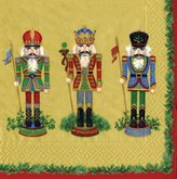 Caspari Nutcracker Suite Luncheon Napkins, Pack of 20, Gold