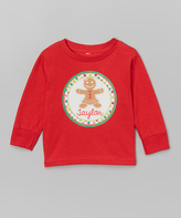 Swag Red Gingerbread Personalized Tee - Infant Toddler & Girls