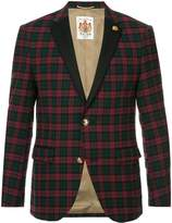 Education From Young Machines single breasted check blazer