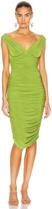 Norma Kamali for FWRD Tara Dress in Matcha Green | FWRD