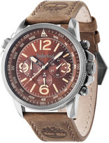 Timberland Men's Shermand Brown Leather Strap Watch 46x56mm TBL13910JSU12