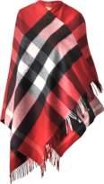 Burberry Collette Merino in wool and cashmere check cape 135x140 cm