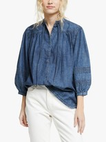 And/Or AND/OR Rosa Denim Top, Blue