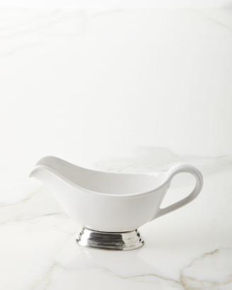 Neiman Marcus Ceramic Pewter Gravy Boat