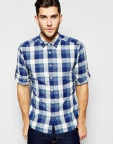 Esprit Check Shirt With Button Down Collar In Regular Fit