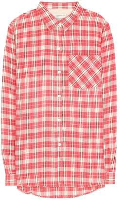 Current/Elliott The Boyfriend linen and cotton shirt