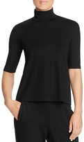 Eileen Fisher Elbow Sleeve Turtleneck Tee - 100% Exclusive