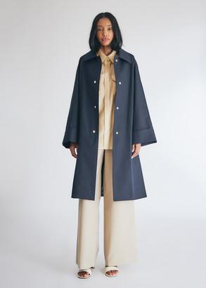 M·A·C Kindersalmon Women's Oversized Mac Coat in Navy, Size Large