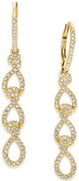 Eliot Danori Gold-Tone Crystal Pavé Linear Earrings
