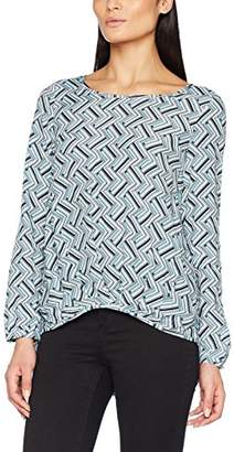 Seidensticker Women's Fashion-Bluse 1/1-LANG Blouse, Multicolour (Black/White 39)