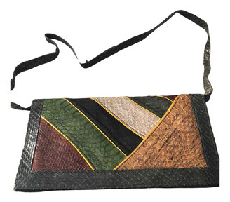 Non Signã© / Unsigned Multicolour Exotic leathers Clutch bags