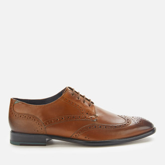 Ted Baker Men's Trvss Leather Wing Tip Oxford Shoes - Tan