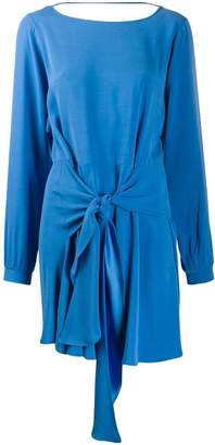Patrizia Pepe tie-waist pleated dress