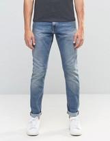 Jack and Jones Slim Fit Jeans in Vintage Light Blue Wash