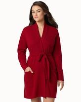 Soma Intimates Artlotta Short Cashmere Robe Bordeaux