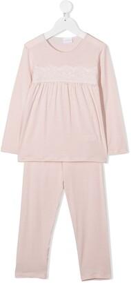 La Perla Kids Lace-Panelled Pyjama Set