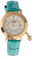 BERTHA Bertha Womens Rose Mother-Of-Pearl Turquoise Leather-Band Watch With Datebthbr5504