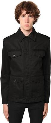 Saint Laurent Embellished Gabardine Cotton Jacket