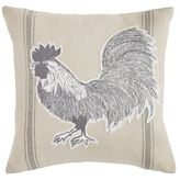 Pier 1 Imports Ticking Striped Applique Rooster Pillow