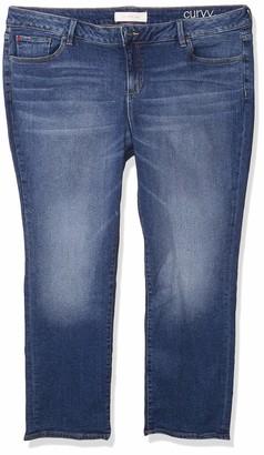SLINK Jeans Women's Plus Size Nikki MID-Rise Boyfriend 20