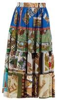 Thumbnail for your product : RIANNA + NINA Patchwork Vintage-silk Midi Skirt - Multi