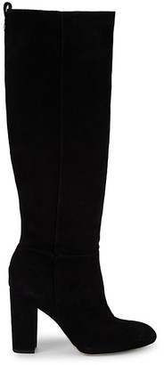 Sam Edelman Caprice Suede Cow Hair Knee-High Boots