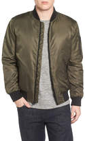 Black Rivet Flight Water Resistant Satin Bomber Jacket