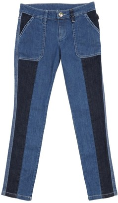 Chloé BICOLOR STRETCH COTTON BLEND DENIM JEANS