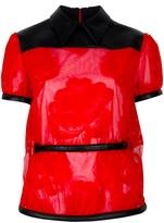 Christopher Kane leather detail blouse