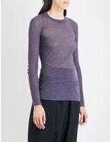 Rick Owens Sheer rib-knit T-shirt
