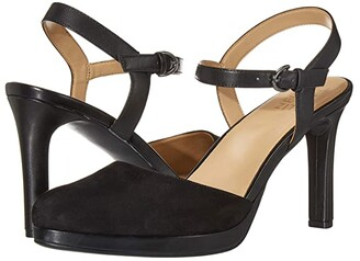 Naturalizer Tulip (Black Suede/Leather) Women's Shoes