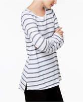 Eileen Fisher Linen-Organic Cotton Striped Top
