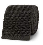 Tom Ford 7.5cm Knitted Silk Tie - Dark green