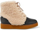 Australia Luxe Collective Bundaburg Shearling-Trimmed Leather Ankle Boots