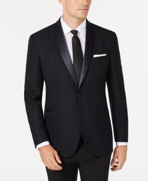 Kenneth Cole Reaction Men's Slim-Fit Tonal Houndstooth Dinner Jacket, Online Only