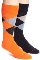 Tommy Hilfiger Men's Argyle Crew Socks - 2 Pack S (7 - 12)