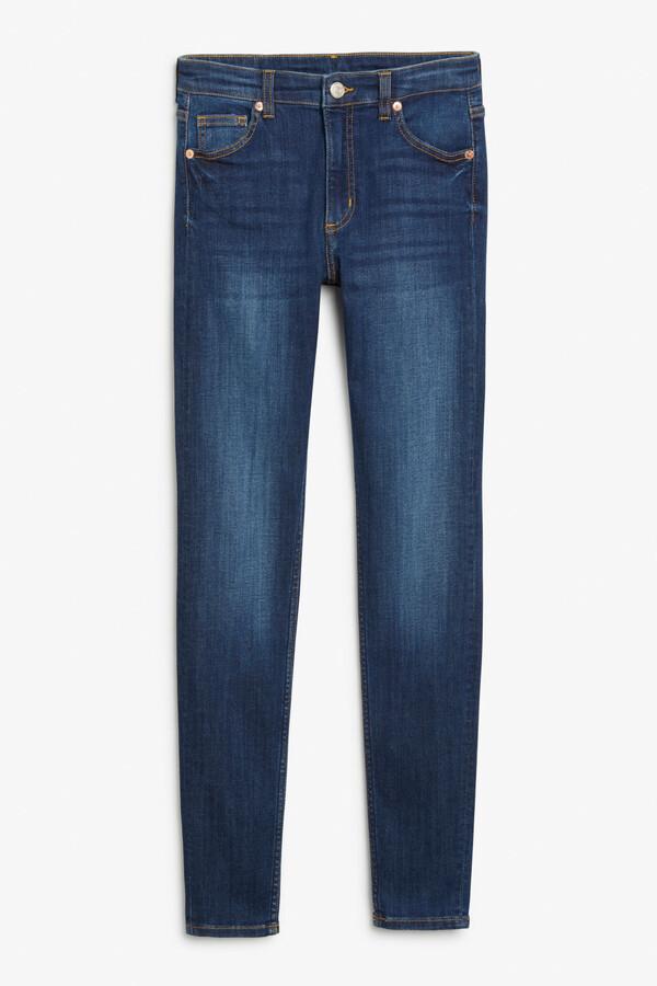 Thumbnail for your product : Monki Mocki mid blue jeans