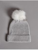 Autograph Pure Cashmere Bobble Winter Hat
