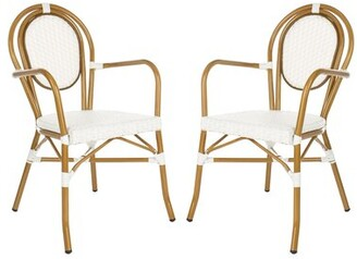 Rahul Stacking Patio Dining Chair Mistana Color: White