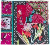 Etro flower border print scarf