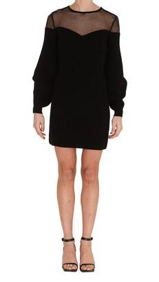 Elisabetta Franchi Puffy Sleeve Knitted Dress
