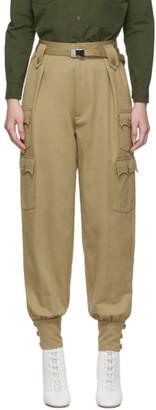 Miu Miu Beige Cuff Trousers