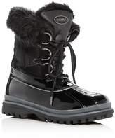 Khombu Women's Believe Waterproof Leather & Faux-Fur Cold-Weather Boots