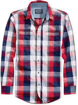 American Rag Men's American Flag Plaid Shirt, Only at Macy's