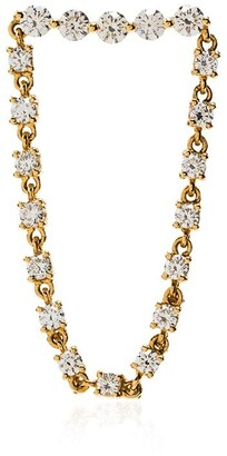 Anita Ko 18kt Gold And Diamond Loop Earring