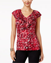 Thalia Sodi Ruffled V-Neck Top, Only at Macy's