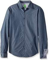 HUGO BOSS Boss Green Men's C-Bluemoon Detailed Long Sleeve Shirt Stripe Yoke