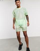 Asos Design DESIGN two-piece shorts in sheer green