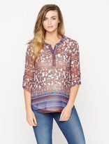 A Pea in the Pod Daniel Rainn Button Detail Maternity Blouse