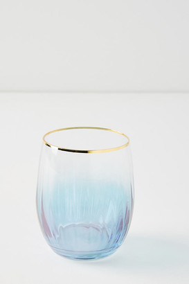 Anthropologie Waterfall Stemless Wine Glasses, Set of 4 By in Assorted Size S/4 wine glass